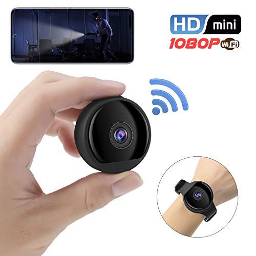 Mini Spy Camera Wireless Hidden Camera 1080P HD Small Home Security Cameras Covert Nanny Cam with Audio and Video Recording, Night Vision, Motion Detection for Home and Office, Indoor Outdoor