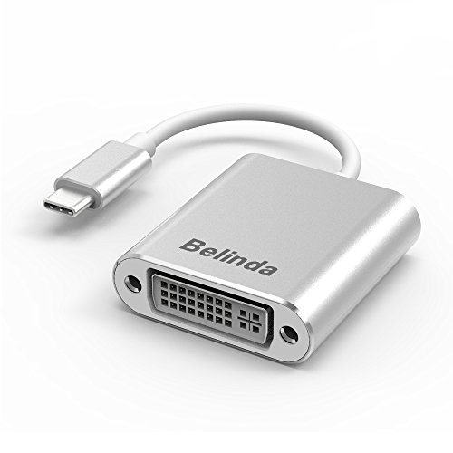 Belinda USB C to DVI Adapter, USB 3.1 Type C (USB-C) to DVI Adapter with Aluminium Case for 2017 MacBook Pro/Samsung Galaxy S8