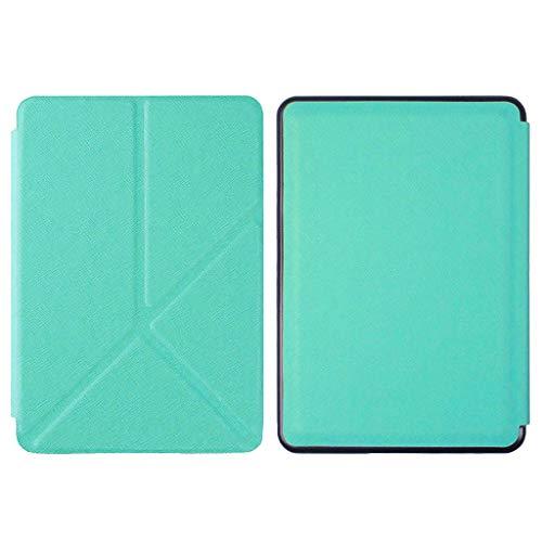 Kindle Paperwhite4th Gen用 保護ケースカバー スタンド ホルダー 疎油撥水 超薄型 最軽量 全5色 - ライトグリーン