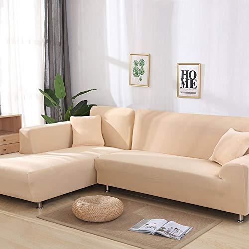 WXQY La Funda de sofá elástica Envuelve la Funda de sofá Antideslizante con Todo Incluido, Utilizada para el sofá Modular de la Sala de Estar, Funda de sofá de Toalla A17 de 2 plazas