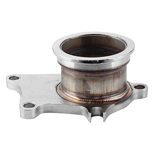 aqxreight - Turbo Downpipe Flange, 5 Bolt 2.5in Stainless Steel V Band Turbo Downpipe Flange Conversion Adaptor Fit for T3/T4