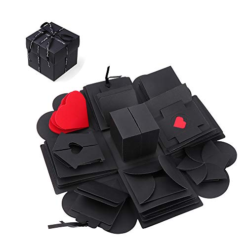 GHJK Überraschung Box Kreative Explosions Box Handgemachtes Scrapbook DIY Faltendes Fotoalbum für Geburtstag Weihnachten Jahrestag Valentinstag Heiratsantrag Hochzeit Muttertag