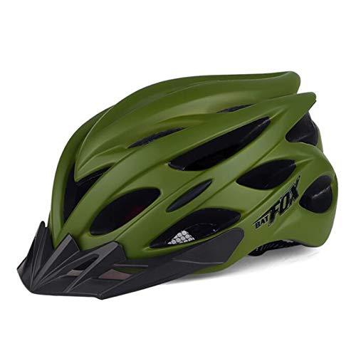Casco de ciclismo con advertencia de la luz trasera, protección solar extraíble...