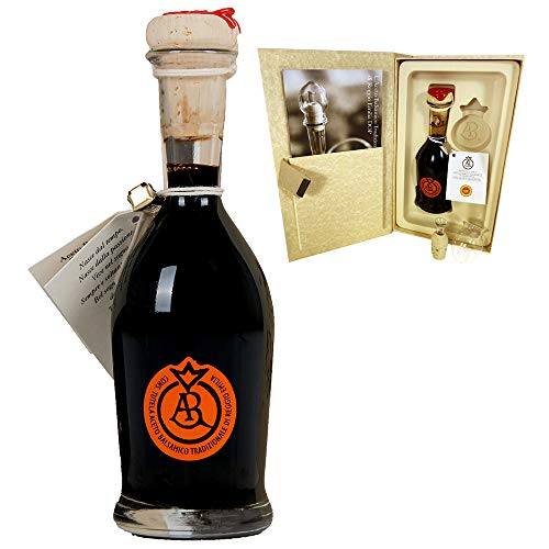 Aceto Balsamico Tradizionale di Reggio Emilia DOP - 12 anni di invecchiamento - 'Bollino Aragosta' (100 ml) + dosatore