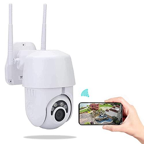 Telecamera WiFi Esterno, KuWFi Telecamera IP 1080P PTZ per telecamera di sorveglianza esterna di sicurezza domestica Telecamera da esterno compatibile con supporto IOS Android Onvif