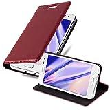 Cadorabo Funda Libro para Samsung Galaxy A3 2015 en Rojo Manzana - Cubierta Proteccíon con Cierre Magnético, Tarjetero y Función de Suporte - Etui Case Cover Carcasa