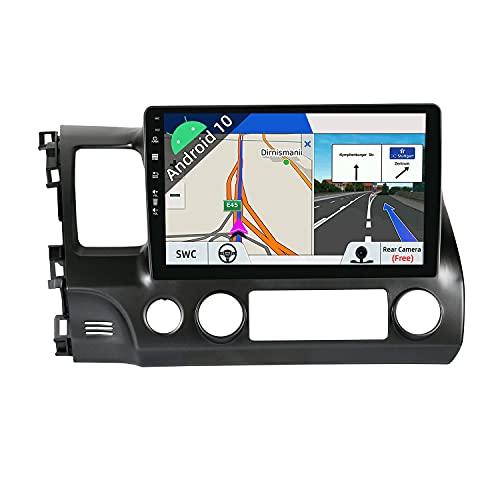 JOYX Android 10 Autoradio Compatibile con Honda Civic (2006-2011) - [2G+32G] - 2 DIN - Telecamera Gratuiti - 10.1 Pollici 2.5D Schermo - Supporto DAB 4G WLAN Bluetooth5.0 Carplay Mirrorlink Volante