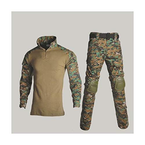 HXSZWJJ Camisa del Uniforme Militar + Pantalones con la...