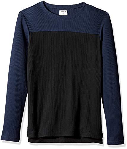 Hurley Men's Color Blocked Thermal Long Sleeve Tshirt, Obsidian, L