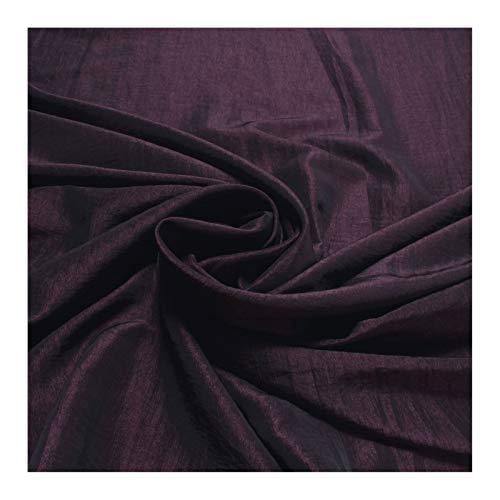 Stoff Polyester Crash Kleidertaft aubergine gecrasht Edelknitter lila