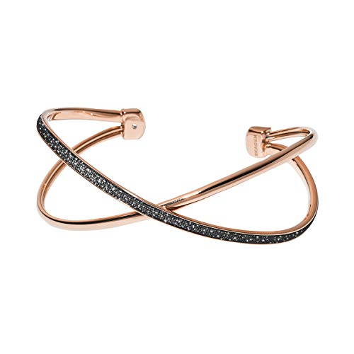 Skagen Merete Black Brilliant Edelstahl Mesh Armband, Zirkonia, für Frauen SKJ1276998
