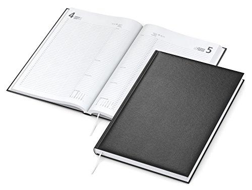 Geiger-Notes - Advokat,2021 Buchkalender A4 mit Balacron-Einband, 384 Seiten, schwarz
