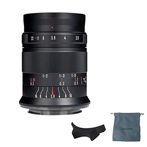 7artisans 60 mm F2.8 Mark II Makro Manueller Fokus Kameralinse APS-C spiegelloses Kameraobjektiv für Fujifilm Fuji Kameras wie X-A1 X-A2 X-at X-M1 XM2 X-T1 X-T2 X-T10 X-Pro1 X-E1 X-E2
