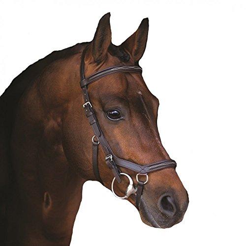 Horseware Rambo Micklem Deluxe Competition Bridle Trense Farbe und Größe wählbar (braun, Standard Horse)