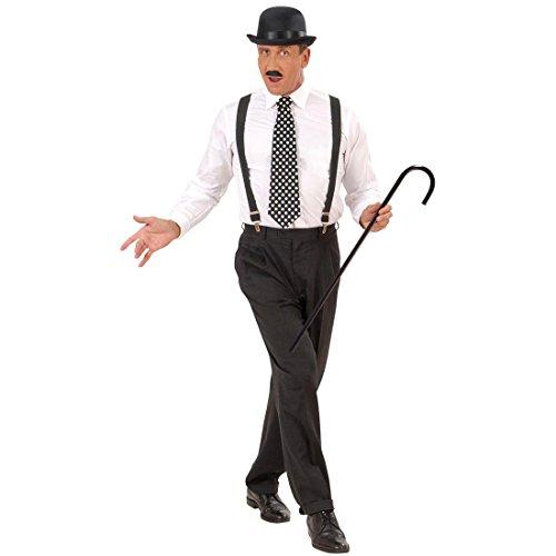 Amakando 20er Jahre Gehstock Charleston Spazierstock Mafia Gangster Tanzstock Fasching Party Dandystock Charlie Chaplin Tanzstab Retro Mottoparty Stützstock Karneval Kostüm Zubehör