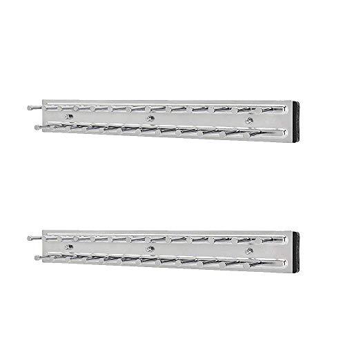 Rev-A-Shelf TRC-14CR 14 Inch-Side Mount Extending Tie Rack Chrome 2 Pack