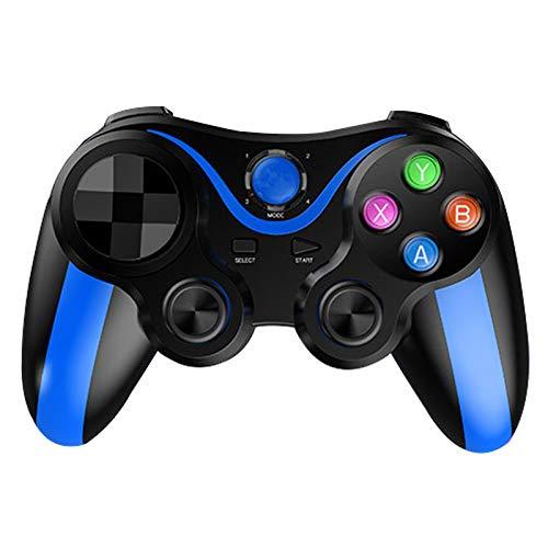 DJXLMN Controlador inalámbrico PS3, balancín Antideslizante y Llave Cruzada Desmontable, Controlador de Juegos Bluetooth con Cable de Carga USB, Adecuado para Android, iPhone, PS3, PC,Azul