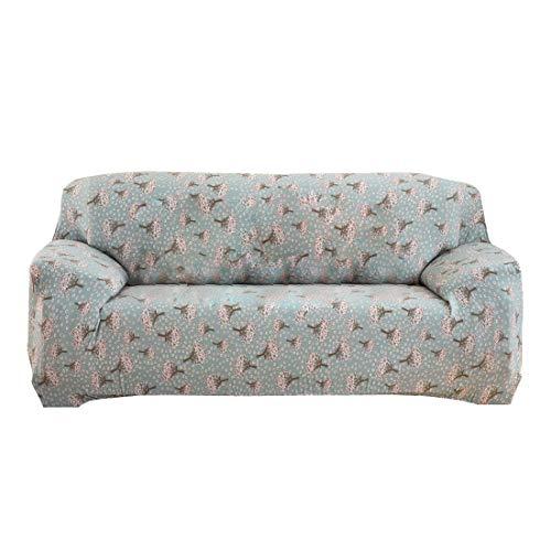 sourcingmap® Haus Polyester Hyazinthen Muster Sofa Stuhl Schonbezug Deckel Schutz 235-300cm DE