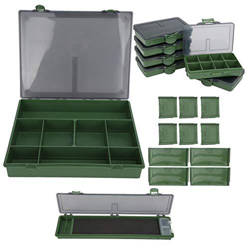 Wosune Caja de Aparejos de Pesca, Caja de Almacenamiento de Cebo, plástico PP, 6 Piezas, Cajas pequeñas separadas para artículos pequeños para Pesca, cebos para Accesorios