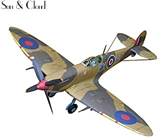 1:32 DIY 3D Supermarine Spitfire IXc Type Fighter Plane Aircraft Paper Model Assemble Handmade Puzzle Game DIY