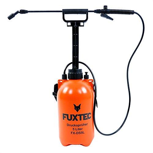 Fuxtec Spruzzatore Irroratrice a Pressione FX-DS5L spruzzatore Manuale con Tracolla 5 Litri, Pompa, irrorazione, Giardinaggio, concimazione, diserbo e disinfestazione