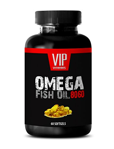 Heart Support Vitamins - Omega Fish Oil 8060 - Omega 3 Fish Oil Best Seller - 1 Bottle 60 Softgels