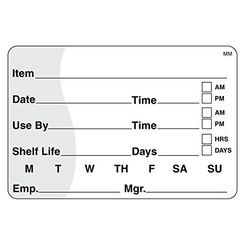DayMark MoveMark Shelf Life/Use by Removable Label, 2