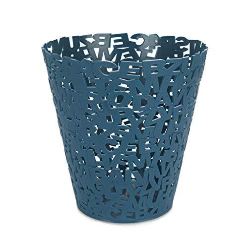 Balvi Papelera Letters Color Azul Papelera Original de diseño Letras Ideal para oficinas, despachos, hogar y colegios Plástico 11x5,5x5,5