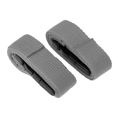 Homyl 1 Paar Golf Trolley Gurte Spanngurte Koffergurt Gepäckgurt Gepäckband Kofferriemen Kofferband - Grau