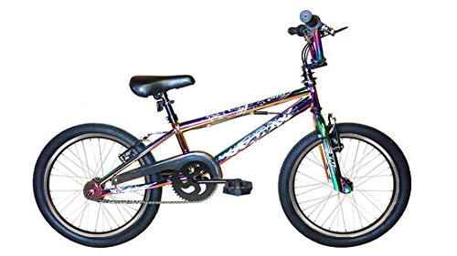 XN Neo-9 Spoked Freestyle BMX Bike, 360 Gyro, Single Speed - NeoChrome...