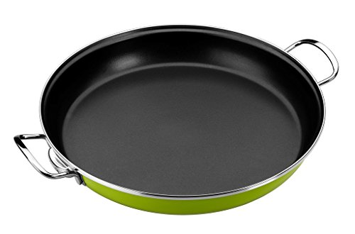 Monix Lima - Paellera 32 cm de acero esmaltado verde...