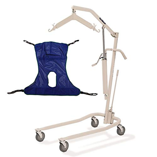 Invacare Painted Hydraulic Lift with Full Body R115 Mesh Sling | 450 lbs. weight capacity | 9805P model