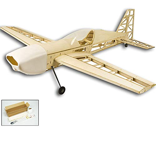 "Upgrade Extra330 Balsa Wood Airplane Kits, 39"" Wingspan Laser Cut RC Plane Kit to Build for Adults, DIY Electric 4CH Airplane Model Aircraft Unassembled (KIT Only w/o Power System or Radio Control)"