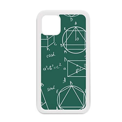Carcasa para iPhone 12 Pro Max con diseño de fórmula matemática geométrica para Apple Mini Mobile Shell