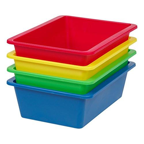 IRIS USA, Inc. THR-L Large Multi-Purpose Plastic Bins, Primary, 4 Pack