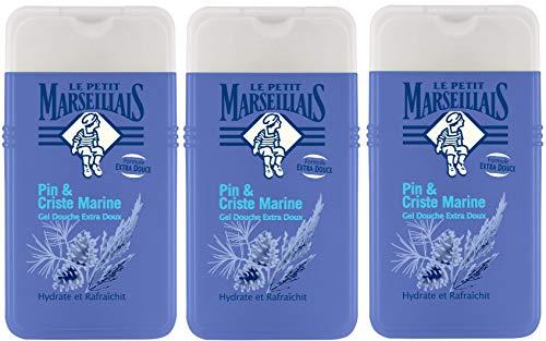 Le Petit Marseillais duschgel extra mild pin und criste meeres 250ml 3er-Pack