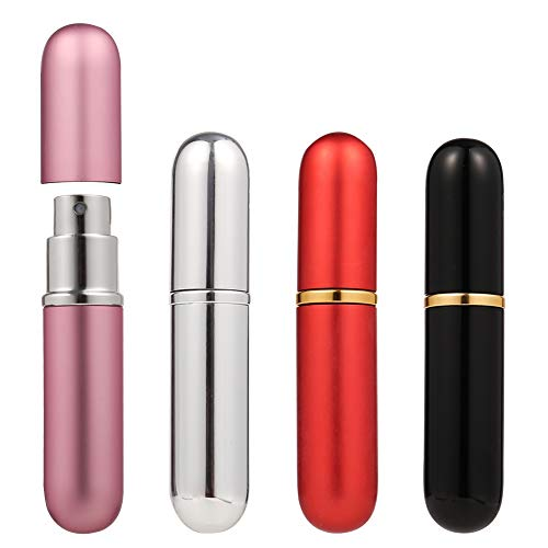 Upain Atomizador perfume botella 6 ml 4 piezas recargables