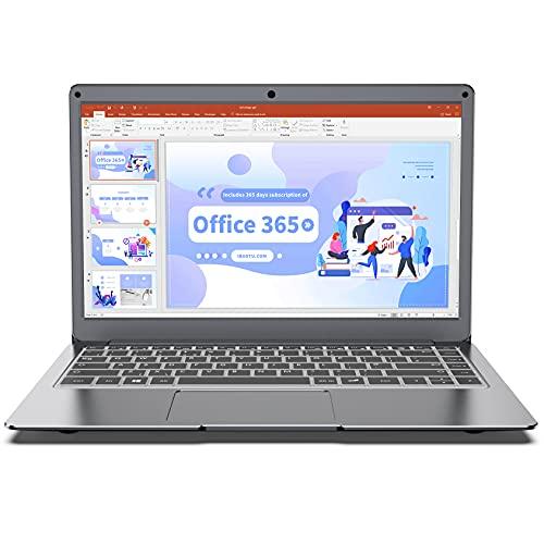 Jumper 13.3 Pollici Notebook con Microsoft Office 365,Portatile Windows 10, Laptop 4 GB DDR3 64 GB eMMC, Memoria Espandibile SSD 1TB e 256GB TF, Intel CPU, WiFi dual band, Bluetooth 4.2
