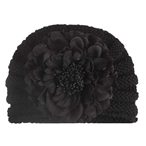 RoMantic sports Casquette bébé Bonnet de bébé Hairball Girl's Cute Hat Knit Beanie Warm Turban Hat Hedging Cap Christmas Flower Decoration