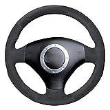 LYSHUI Cubierta del Volante del Coche, Apto para Audi A3 2000-2003 A4 2003-2005 RS 6 2003 S4 2004-2006 TT 2001-2006