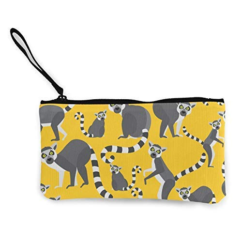 XCNGG Geldbörsen Shell Aufbewahrungstasche Lemurs of Madagascar Fashion Coin Purse Bag Canvas Small Change Pouch Multi-Functional Cellphone Bag Wallet Cosmetic Makeup Bag