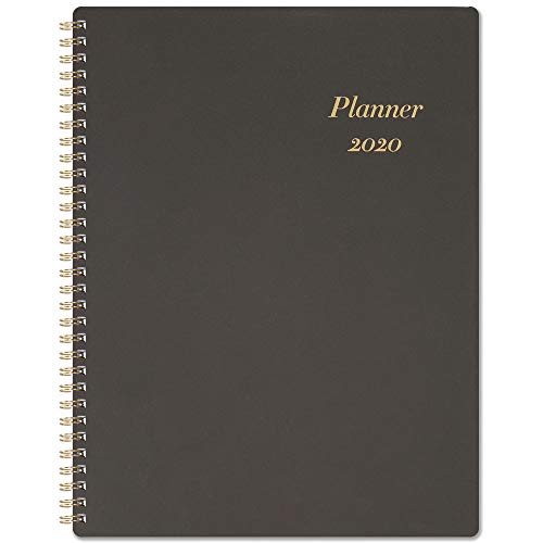 """2020 Planner - 2020 Weekly Planner with Flexible Cover, Jan. 2020 - Dec. 2020, 8.5"""" x 11"""", Strong Twin - Wire Binding, Round Corner, Improving Your Time Management Skill"""