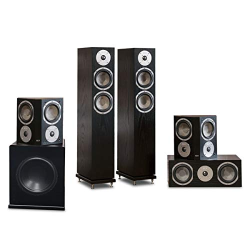 Buy Discount KLH Cambridge 5.1 Speaker System with 10″ Subwoofer (Black Oak)