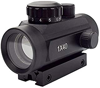 OTW Rifle Sight 1x40 Illuminated Red & Green Dot Gun Sight Detachable 11mm/20mm Weaver Rail Mount Sight