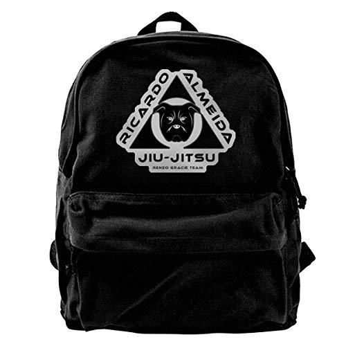 Yuanmeiju Fashion Canvas Backpack Gracie Jiu Jitsu Academy Logo Laptop Backpack Fashion Theme School Backpack