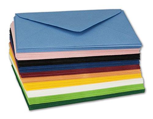 60x farbige Umschläge gemischt I DIN C7 I Format: 81 x 114 mm I Farben-Mix I 10 I Marke: Gustav NEUSER®