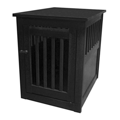 Dynamic Accents Dog Crate End Table Black medium size
