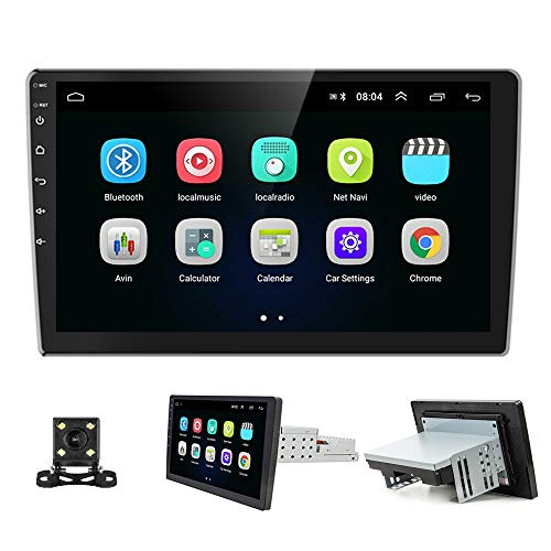 """Podofo Android Car Stereo Car Radio with GPS Navigation 10.1"""" Touch Screen Autoradio Bluetooth FM Radio Receiver Multimedia Player Support WiFi/Mirror Link/USB + Backup Camera"""