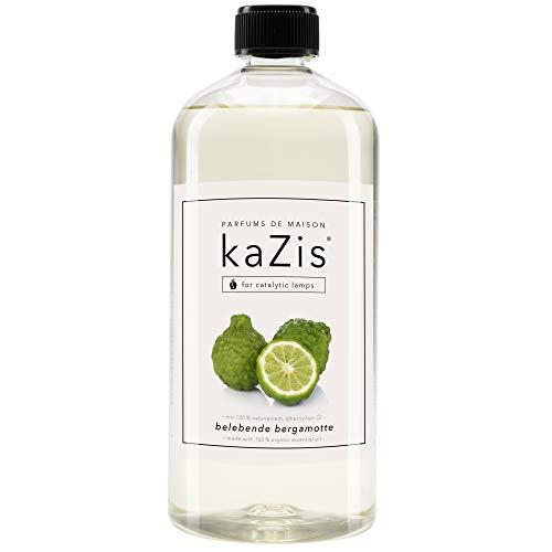 KAZIS I Bergamotte Raum-Duft I Passend für alle katalytischen Lampen I Parfums de Maison I Nachfüll-Öl (Refill) I 1000 ml I 1 Liter