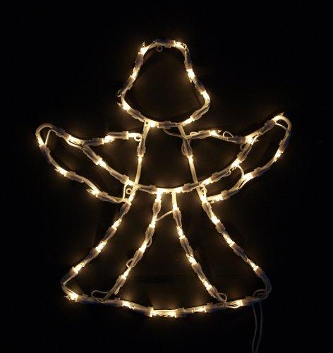DEGAMO Fensterbild beleuchtet 42cm mit 50 LED, Motiv Engel, mit Saugnapf